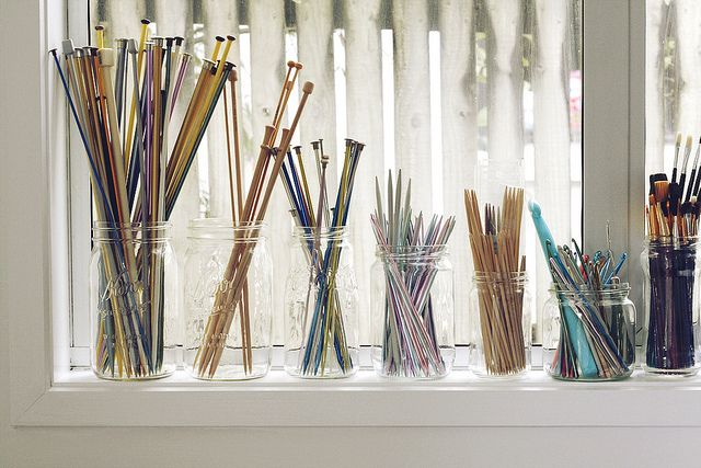 Craft Room - Needles organized by size!