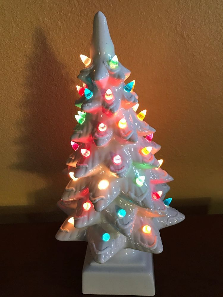 Details About Vintage Ceramic Christmas Tree 18 Tall Light Up 2