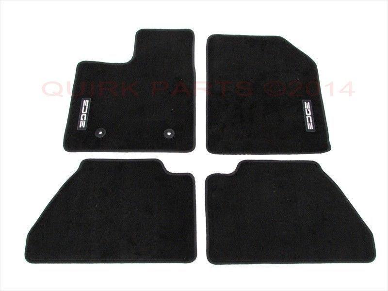 genuine ford front black rear itm floor mats ebay rubber edge