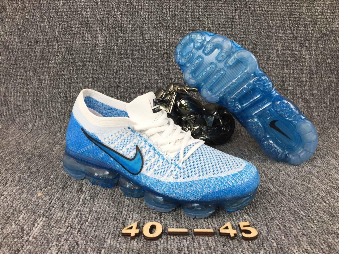 buy popular 5bbe6 a9d73 Men Nike Air Vapormax Flyknit Blue White