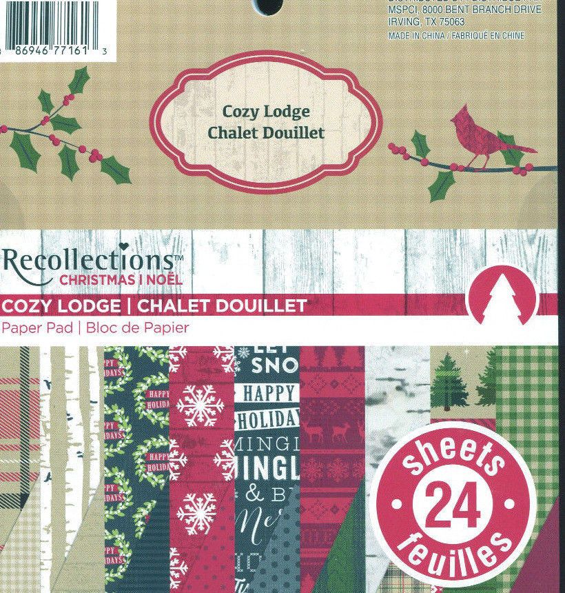 Recollections Cardstock Paper Pad 24 Sheets 6x6 Inch Christmas