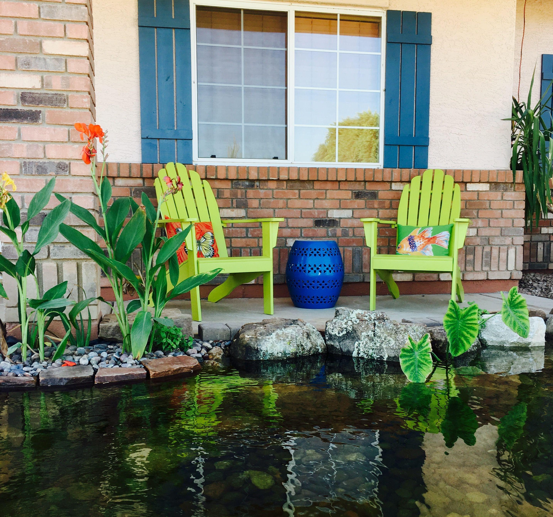 Koi pond in the front yard #pondscapesaz # ...