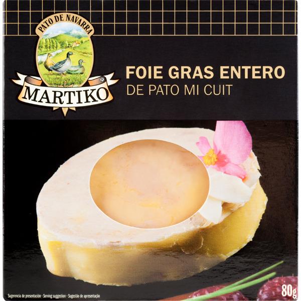 Martiko Foie Gras Entero De Pato Mi Cuit Envase 80 G Hipercor Es 6 70 Foie Foie Gras Alimentos