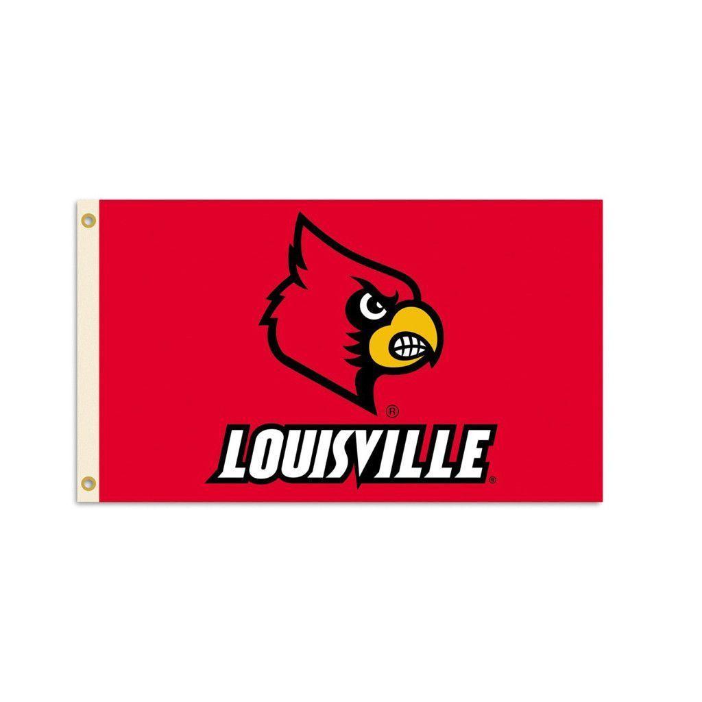 Louisville Cardinals Mascot House Flag