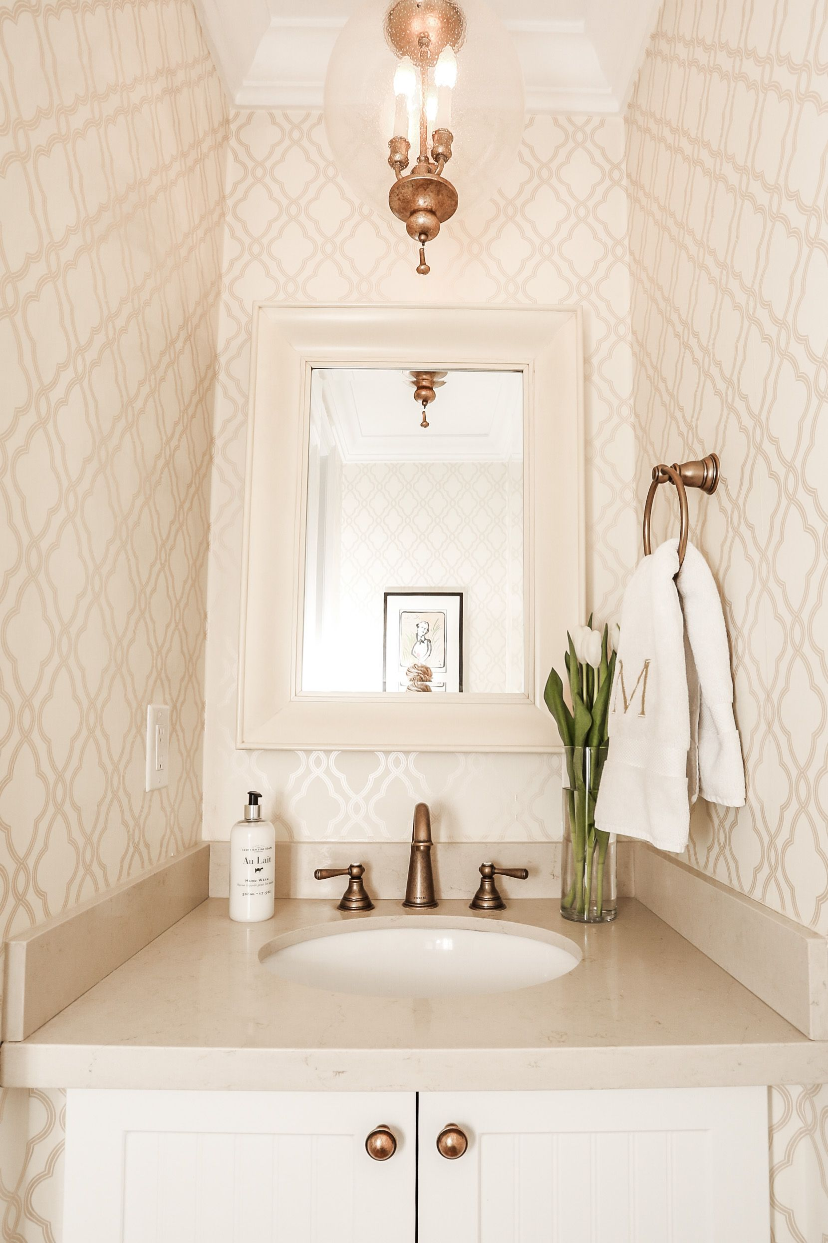 Beautiful And Simple, Love The Design Of This Powder Room