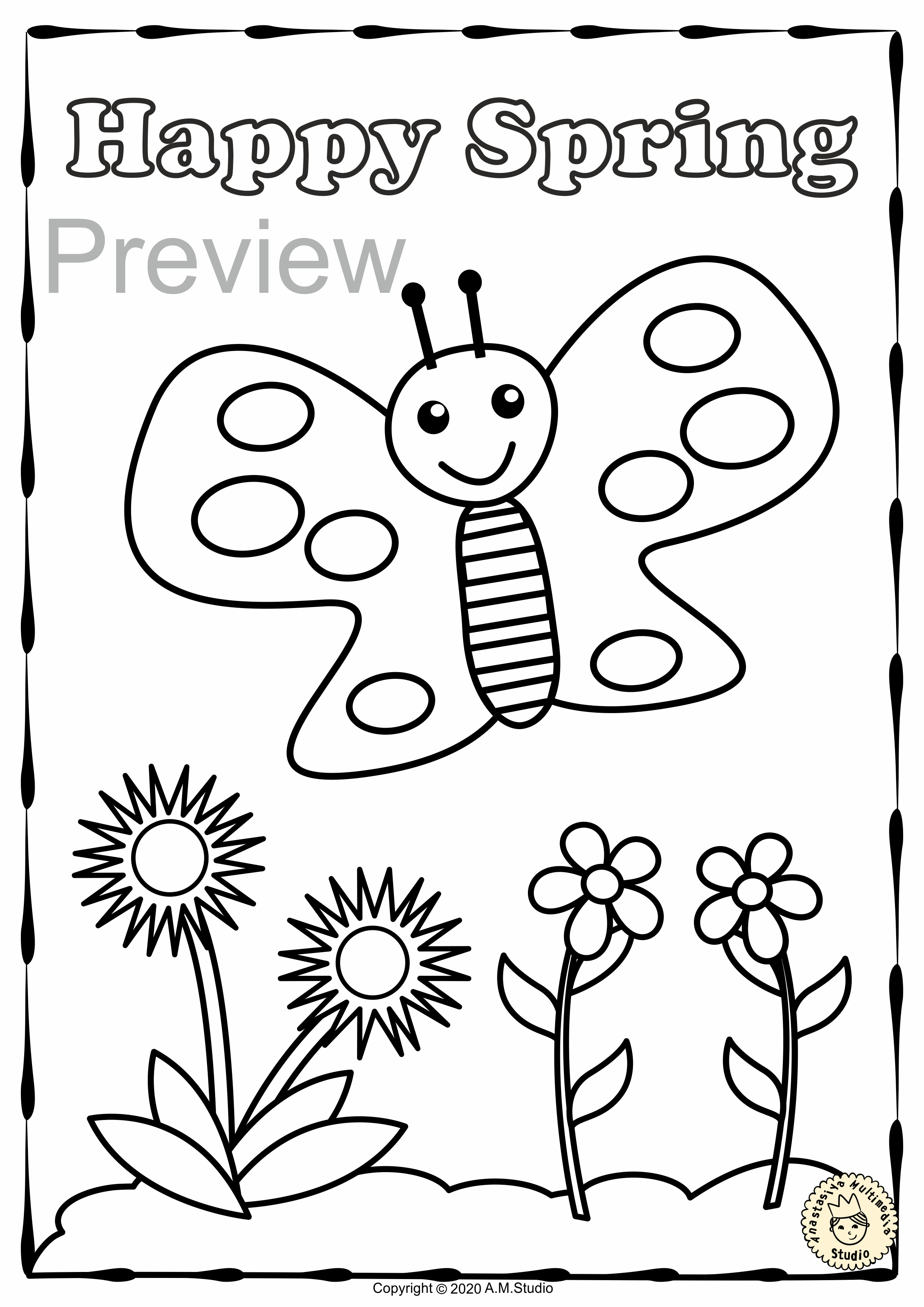 Spring Coloring Pages In 2020 Coloring Pages Spring Coloring Pages Spring Break Activity