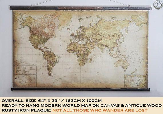 Mappa del mondo moderno 64 x 39 163x100cm
