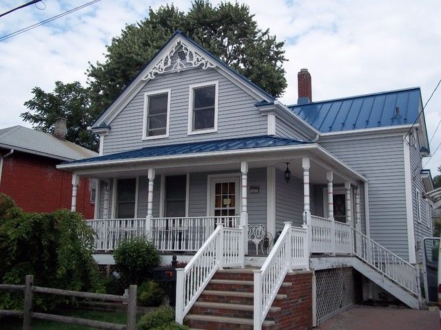metal trim ideas standing seam blue metal roof the 1 12 story home boast a