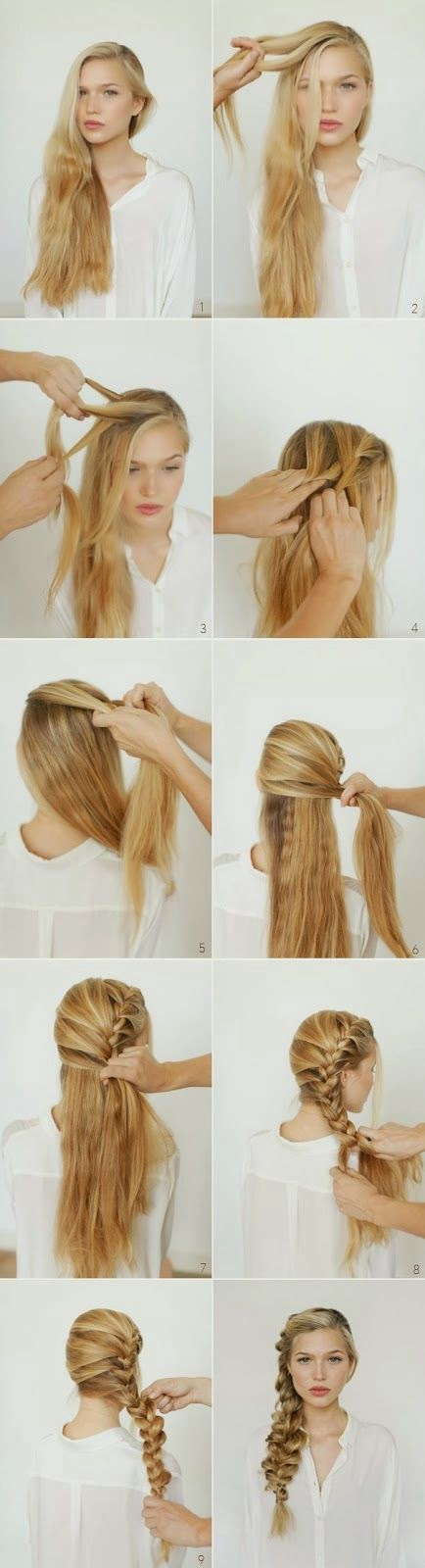 trends4everyone: Step By Step Hair Style Tutorial..