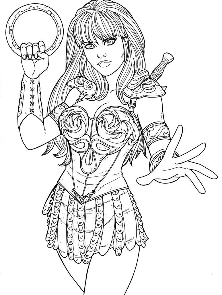 Xena By Jamiefayx Princess Coloring Pages Princess Coloring Cute Coloring Pages