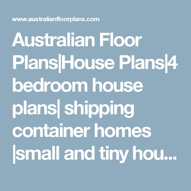 Australian Floor Plans House Plans 4 Bedroom House Plans