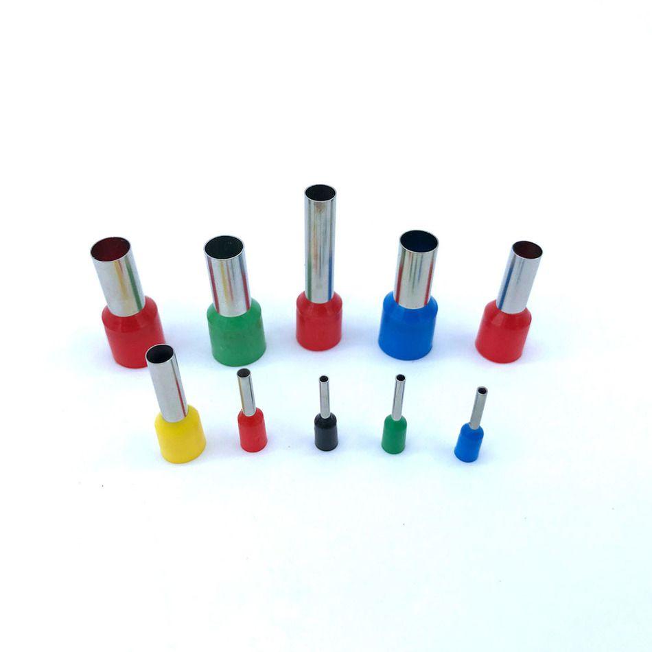 Insulated Ferrules Terminal Block 100pcs/Pack E0508 E7508 E1008 ...