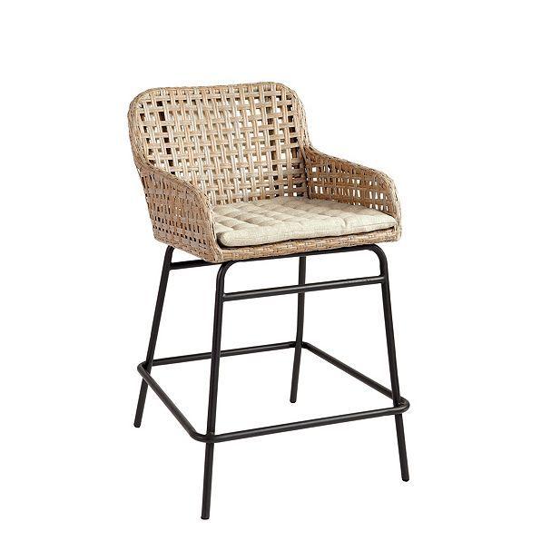 Bailey Woven Stools Ballard Designs Wicker Counter Stools Wicker Bar Stools Kitchen Counter Chairs