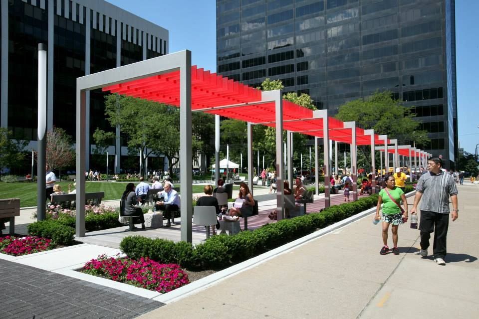 Renovated Perk Park  by Thomas Balsley Associates,  in Cleveland, USA