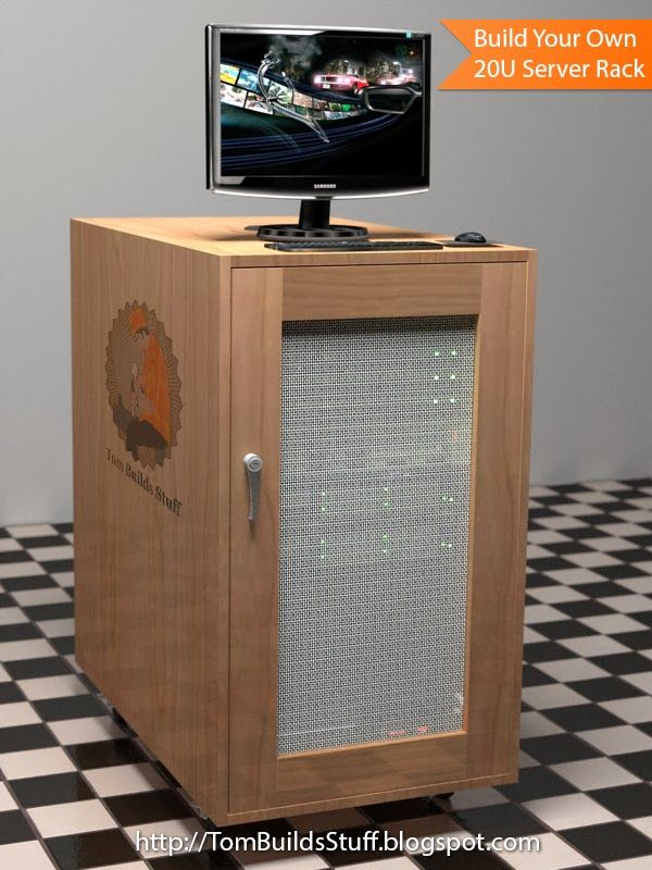 Free Woodworking Plans For An Open Frame Or Enclosed 20u Server Rack Home Small Office I Have A Few Mount Servers That