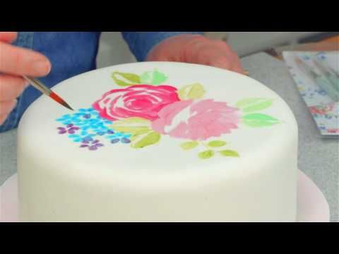 How To Create A Watercolor Effect On Fondant Watercolor Roses