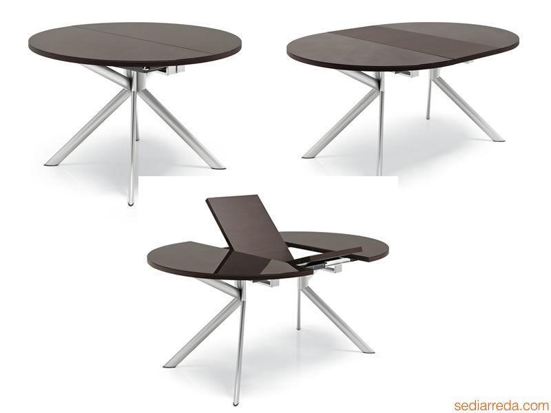 Vera table de salle manger en verre ronde avec rallonges - Table de salle a manger design avec rallonge ...