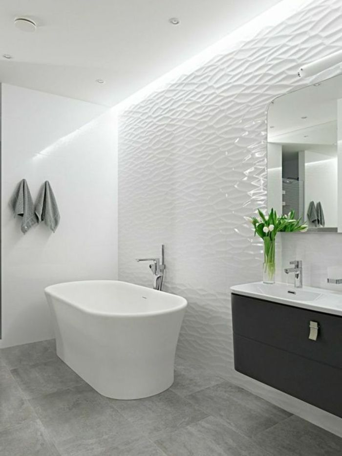 Le carrelage effet béton en 55 photos inspirantes Bath, Bathroom