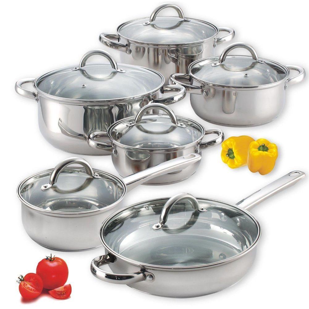Kitchen 12-Piece Stainless Steel cookware Set new blue bird | Blue bird