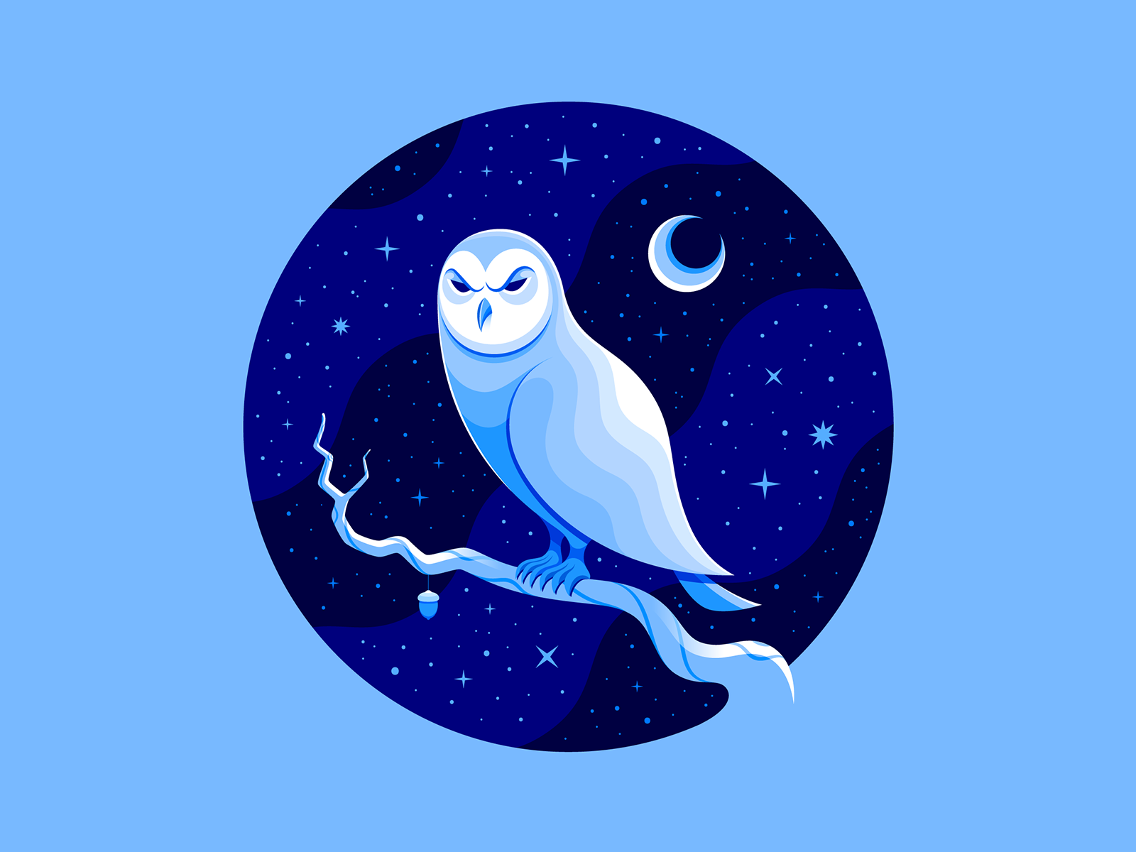 5 Striking Color Trends You Ll Want To Hop On In 2020 Web Design Ledger In 2020 Owl Illustration Color Trends Snowy Owl