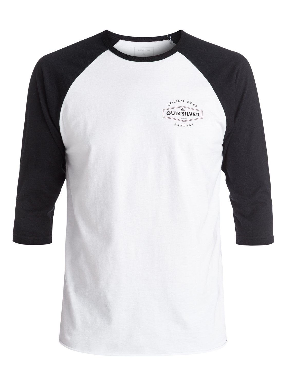 Quiksilver Men's Last Call Raglan T-Shirt, White, 2XL