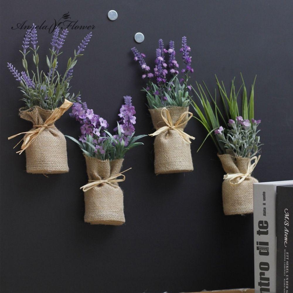 Artificial Plant Burlap Bonsai Gypsophila Flower With Vase Price 9 95 Free Shipping Homedecor Flower Pot Design Gypsophila Flower Lavender Decor