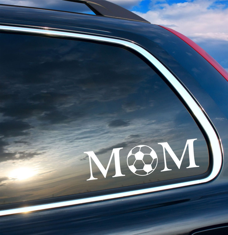 MOM Soccer Car Decal Vinyl Wall Decal Sticker Soccer Madison - Car decal sticker girl