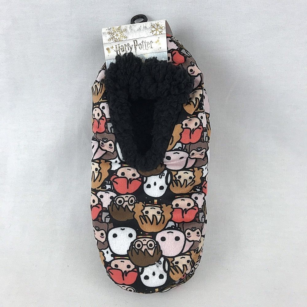 5051257c5f Harry Potter Chibi Slipper Socks 9-11 Anti Slip Cozy Fluffy Brown BLack   HYP  SlipperBedSocks