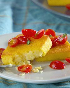 Baked Polenta Squares. A nice change from potatoes.