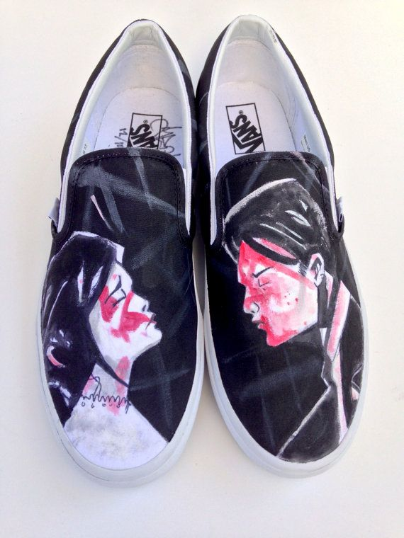 85893bec9c Custom Painted UFO Vans Shoes - Hand Painted UFO Alien Abduction I ...