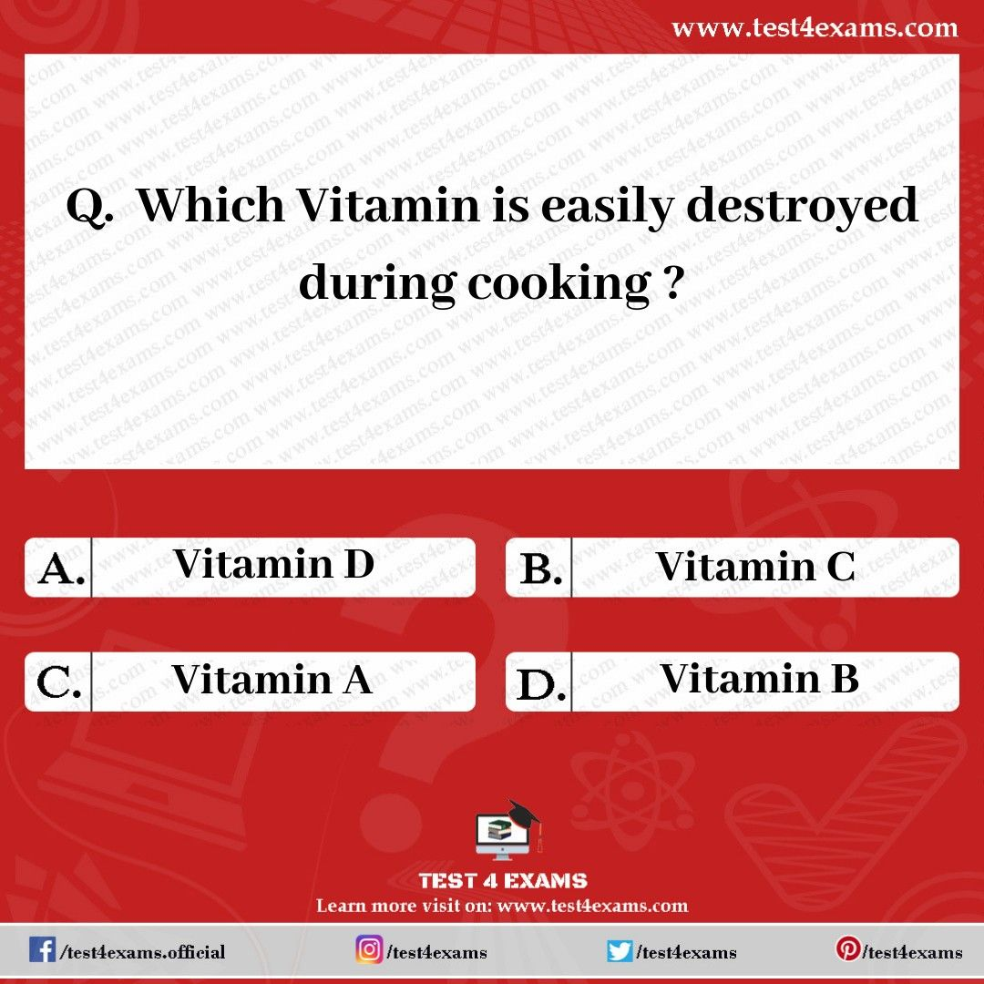 which vitamin is destroyed during cooking
