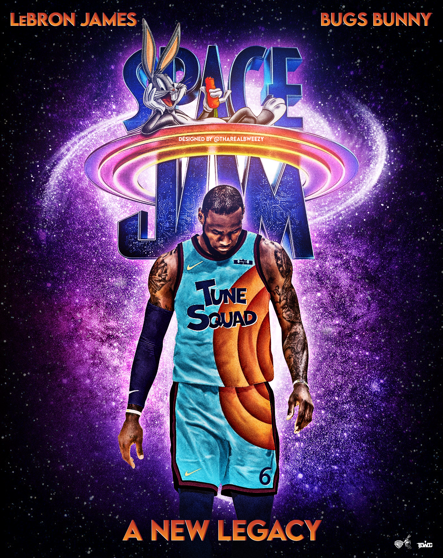 Space Jam A New Legacy 2021 1461 X 1840 By Tharealbweezy Basketball Photography Funny Nba Memes King Lebron James