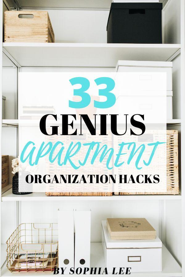 33 Seriously Genius Apartment Organization Hacks You ...