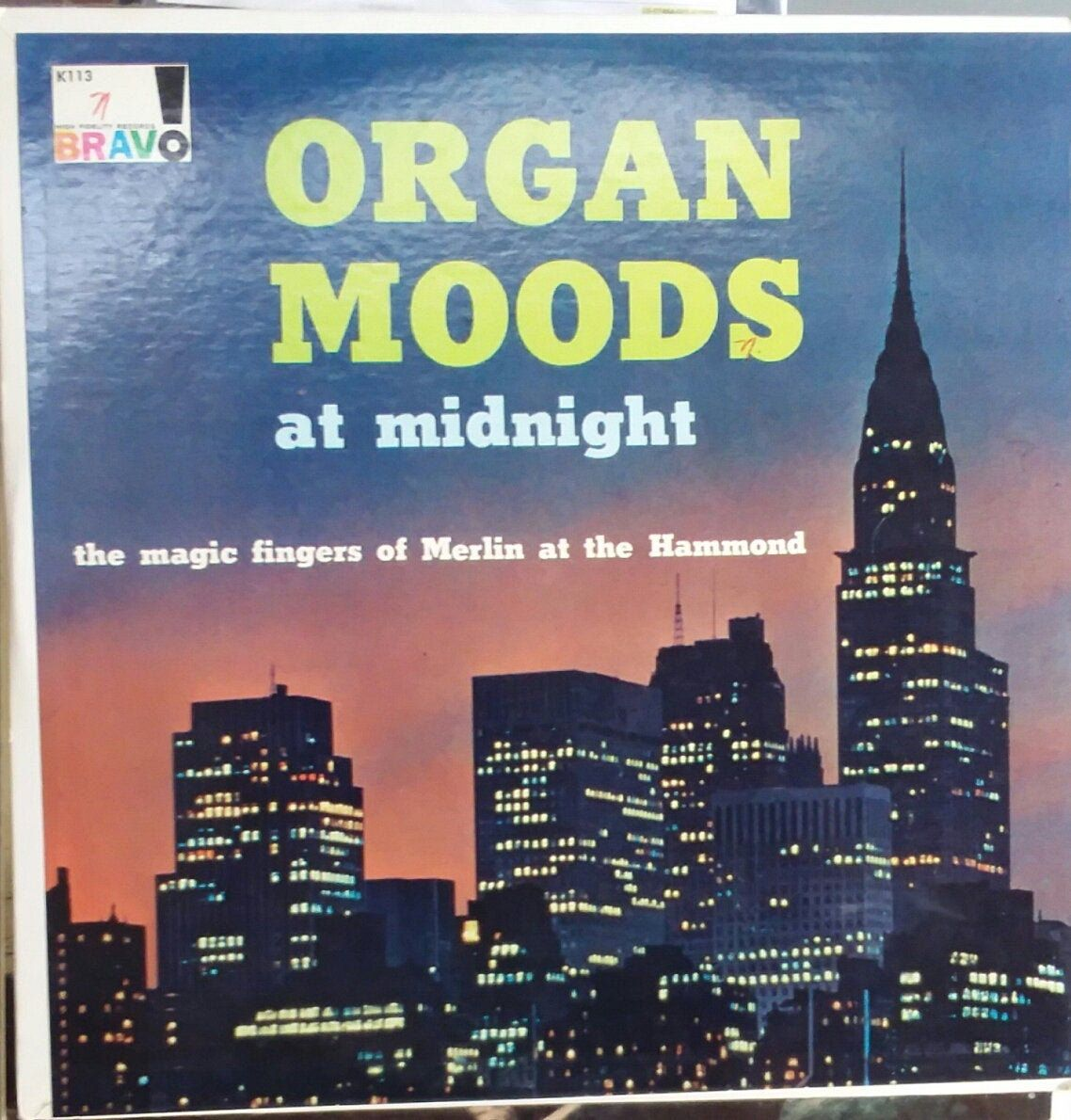 Organ Moods At Midnight The Magic Fingers Of Merlin At The Etsy In 2020 Record Album Magic Fingers Pop Rock Music