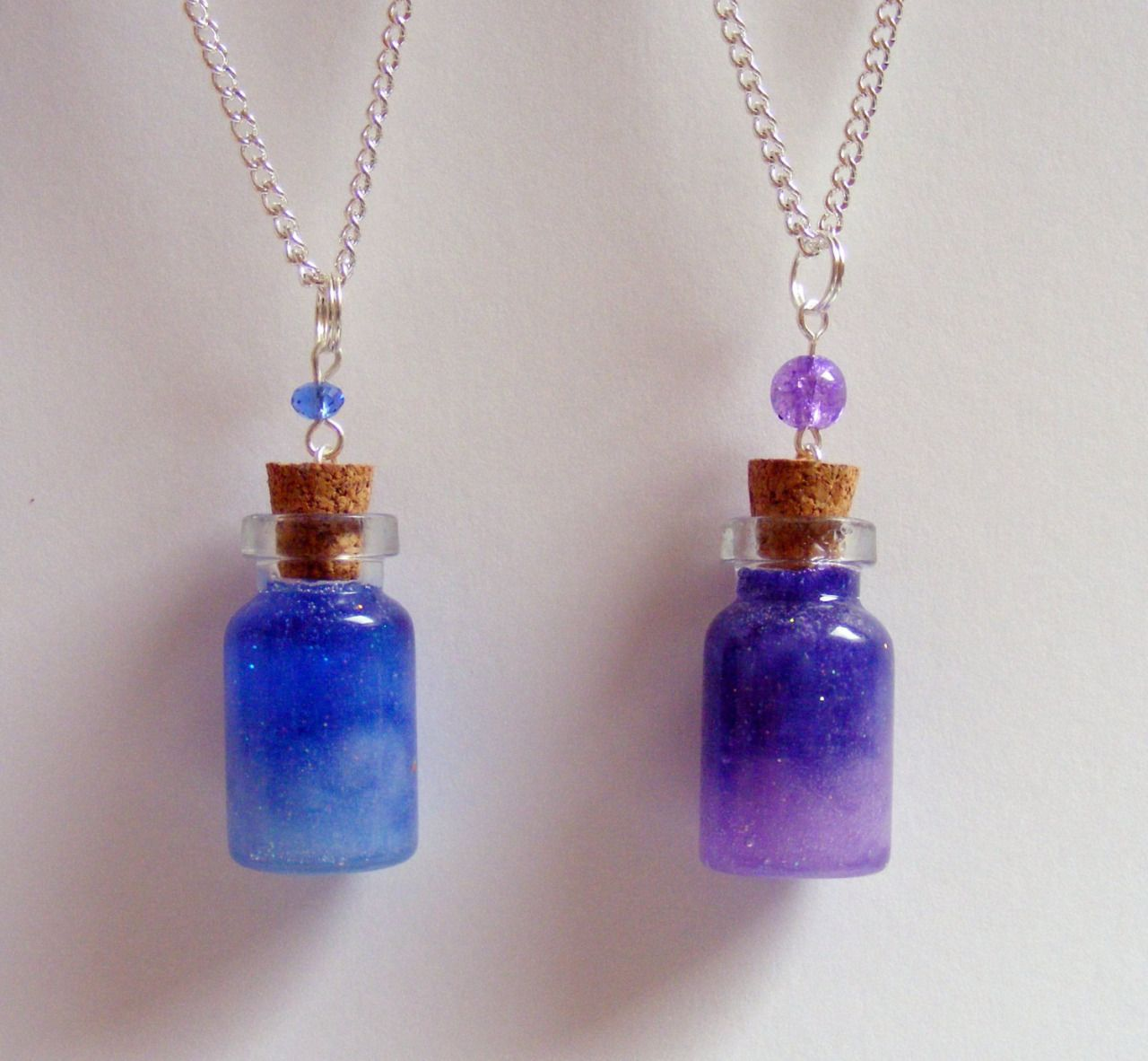 neateats jewelry — #galaxy nebula pendant #miniature bottle