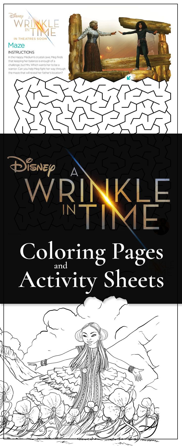 FREE Printable A Wrinkle in Time coloring and activity sheets     A Wrinke In Time free printables from Disney  Printable coloring pages and  activity sheets