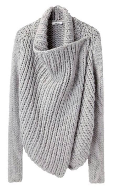 Saco Gris A Dos Agujas Tejidos Knitting Shawl Cardigan Y Shawl