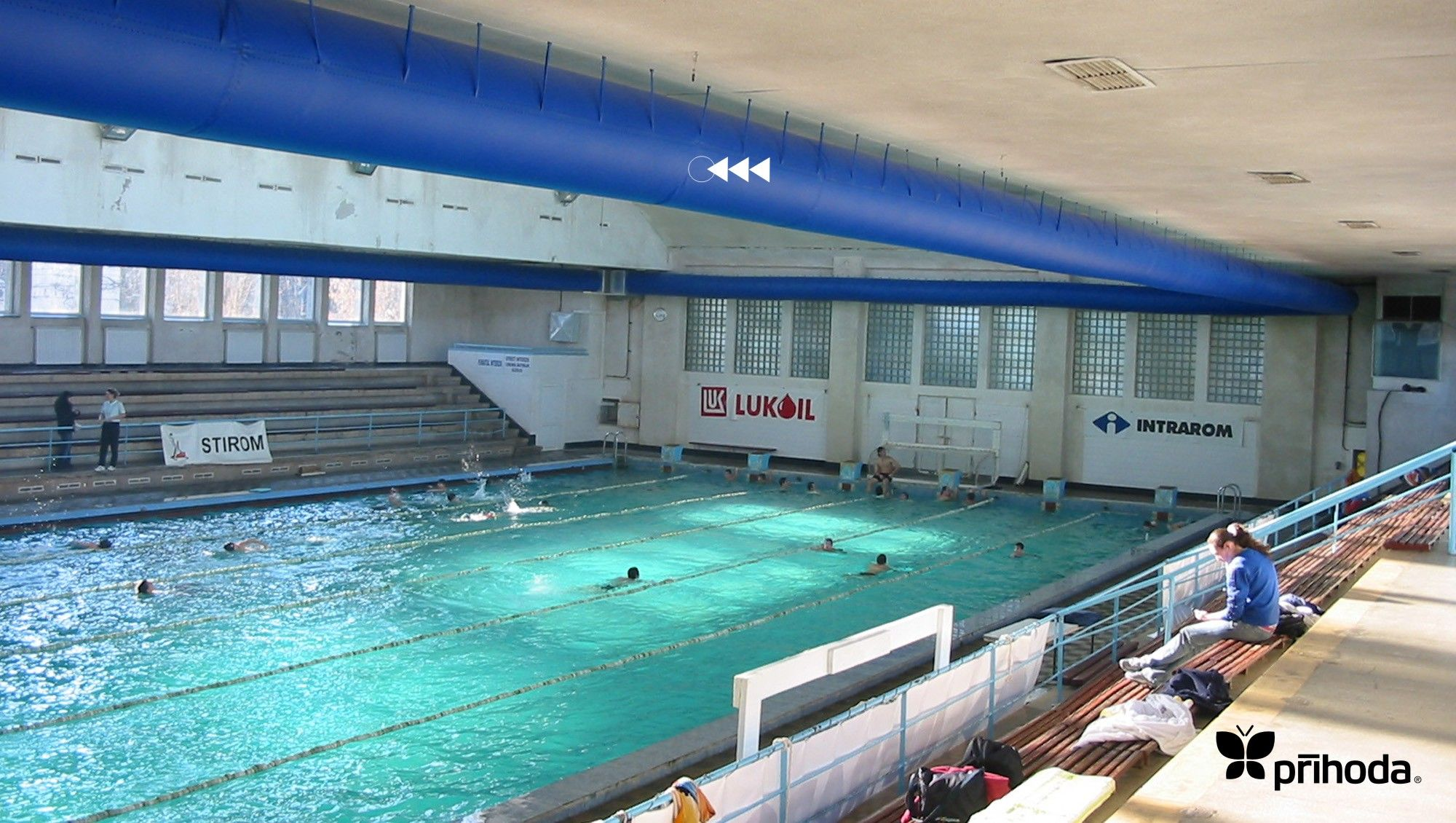Olympic sized pool heating by prihoda non permeable for Pool ventilation design