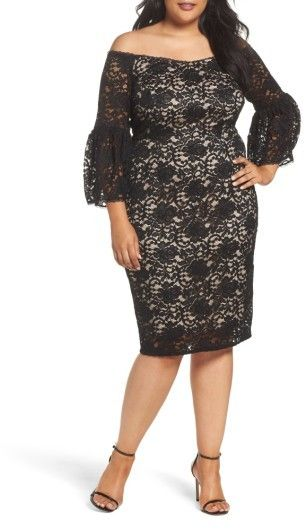 7a961ea7a35 Adrianna Papell Plus Size Women s Juliet Off The Shoulder Lace Dress ...