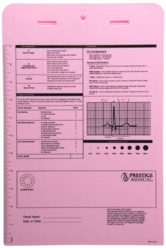 Prestige Medical 3309 Nurse Assist Clipboard Pink Nursing Notes