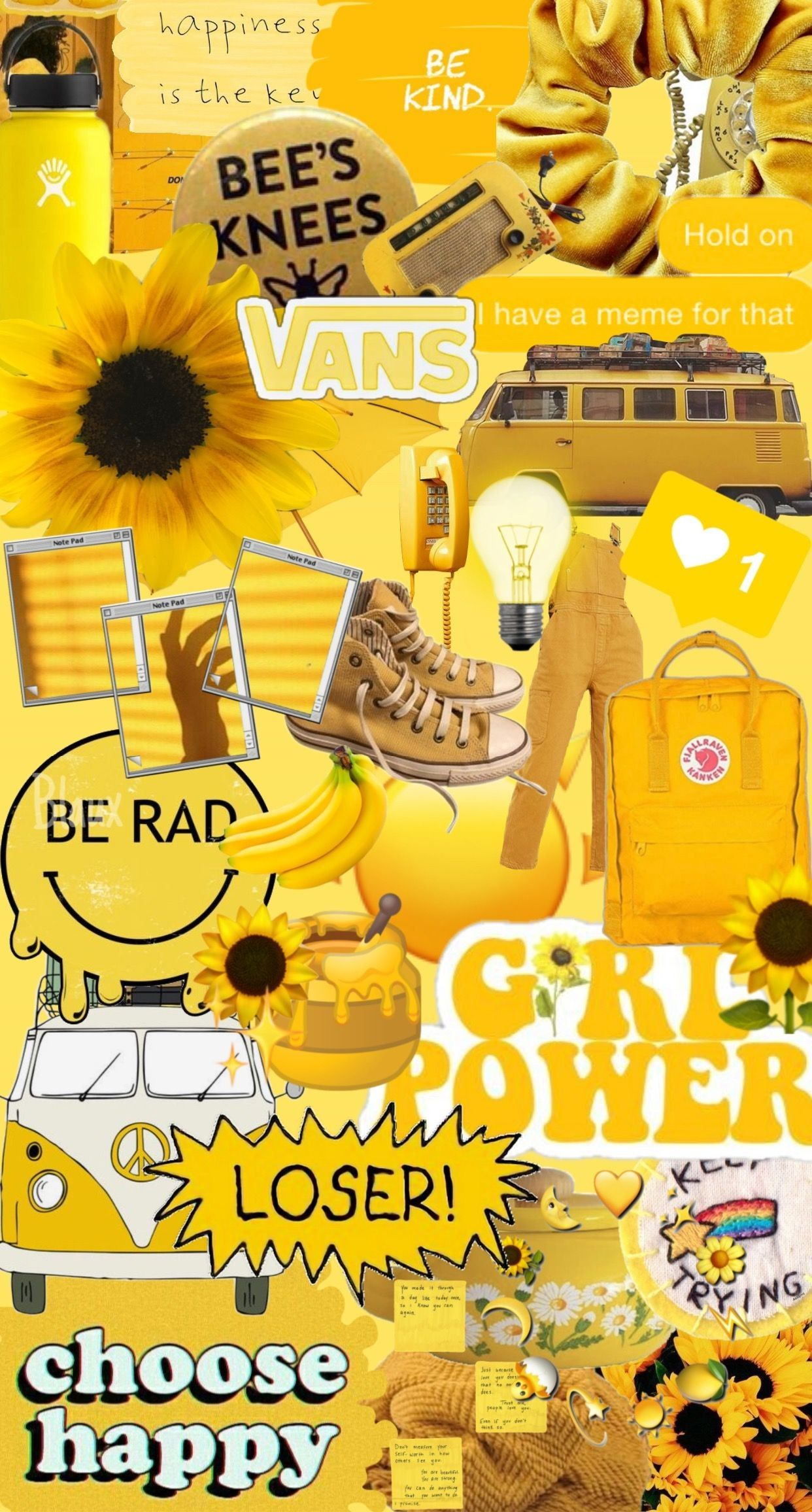 Pin by laura kate on aesthetics Iphone wallpaper yellow