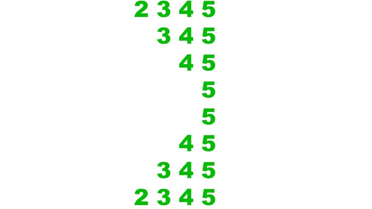 Number Pattern Program In Java Series 4 Hindi Number Patterns