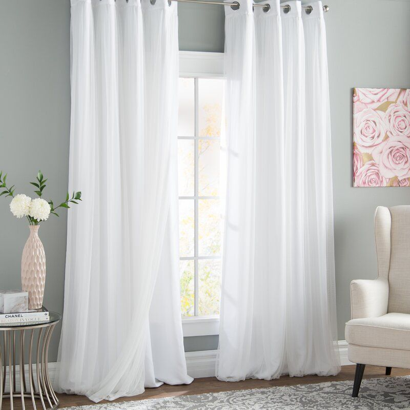 Brockham Solid Color Room Darkening Grommet Curtain Panels In 2020