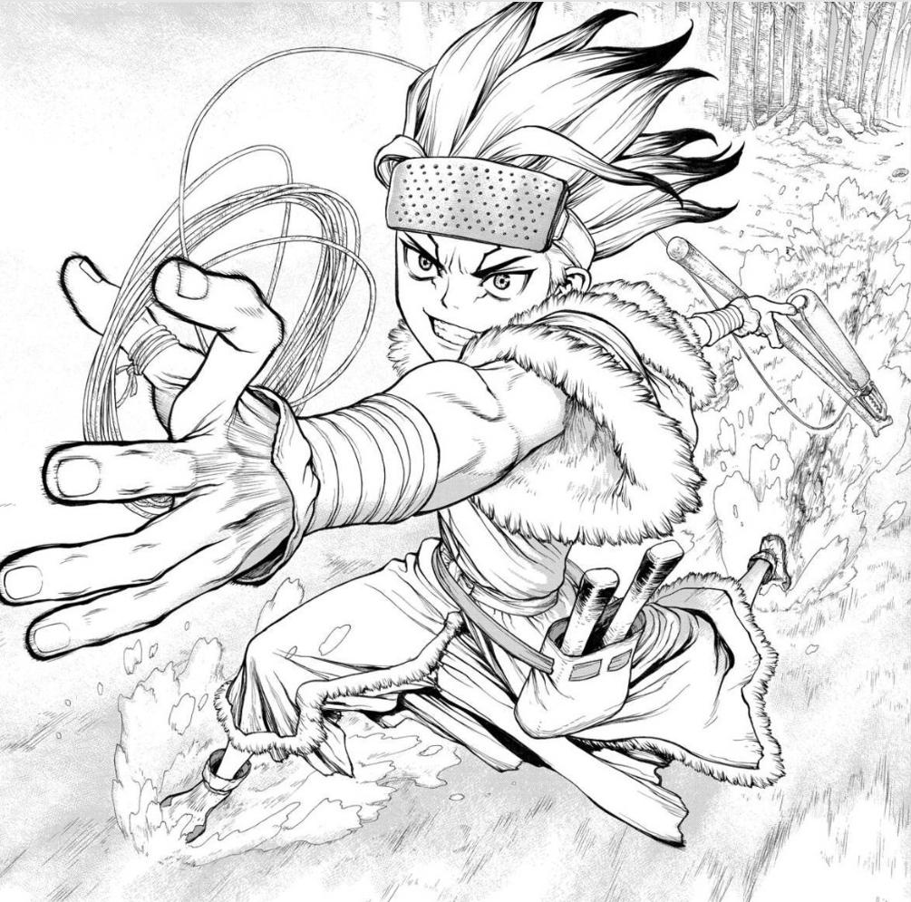 Dr. Stone Manga. Stone, Drawings, Manga