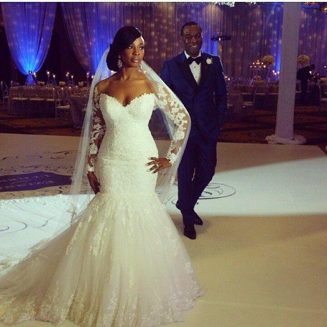 Nigerian Wedding Gowns: Nigerian Bride White Wedding Dress For Church