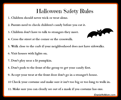 halloween safety rules these are so important to review with kids - Halloween Safety Worksheets