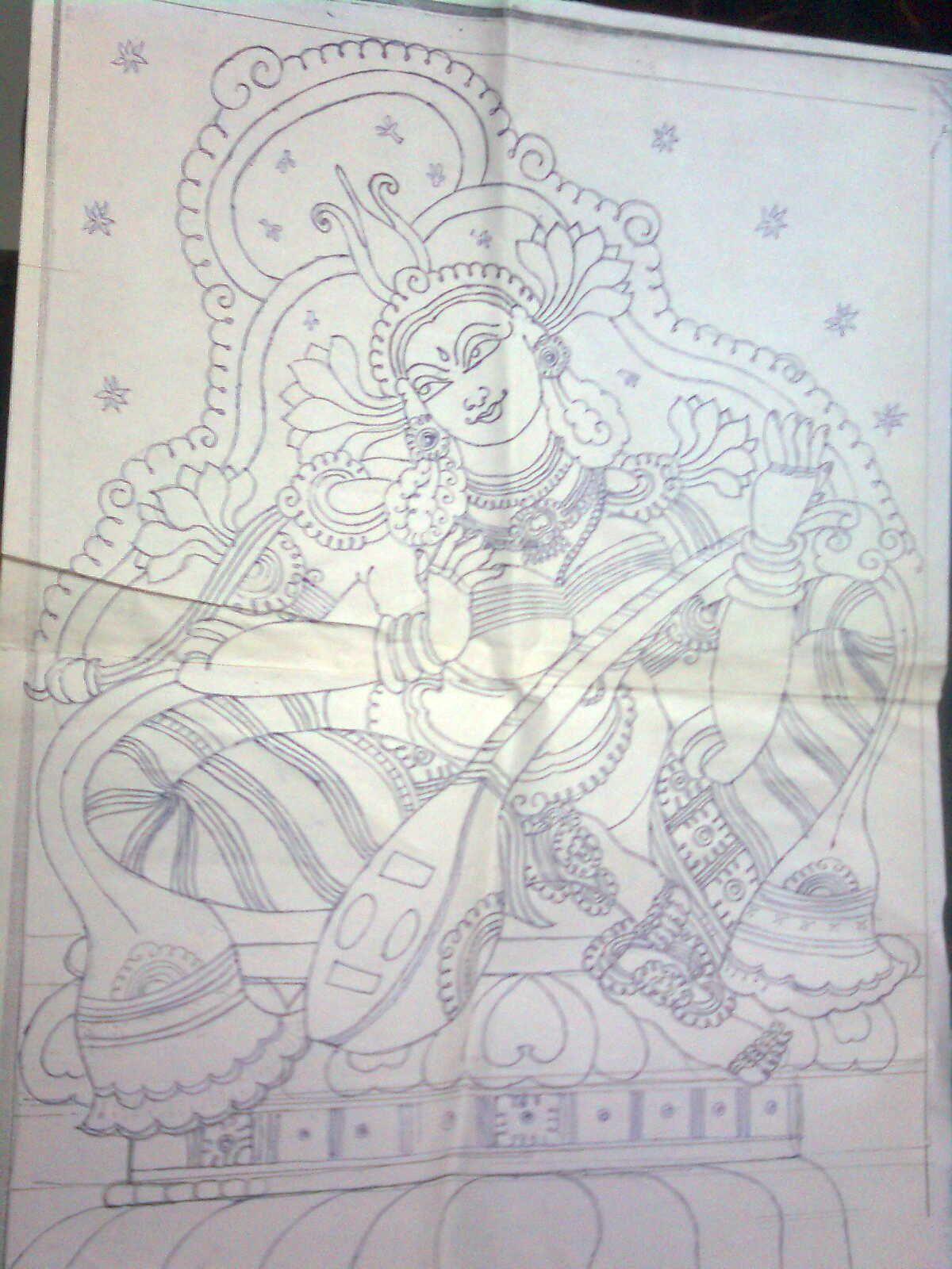 Tracing design craftziners mural paintings pinterest for Mural painting designs