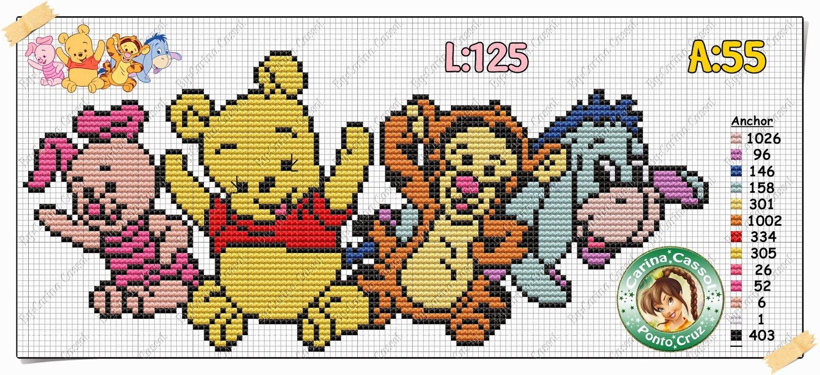 Carina Cassol Designer: Gráficos do ursinho Pooh e sua turma!