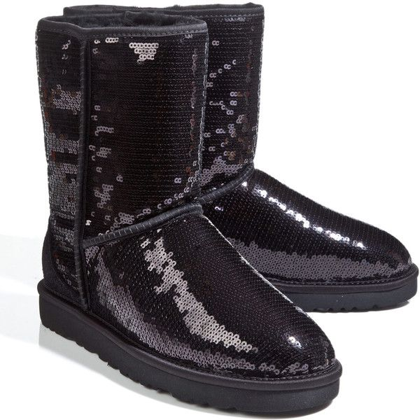 6650fddea77 Ugg Sequinned Boots ( 225) ❤ liked on Polyvore featuring shoes ...