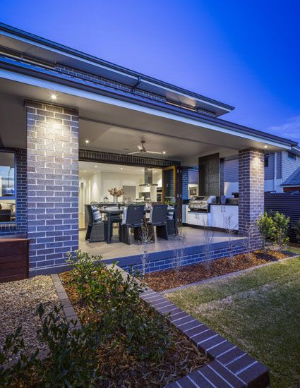 Alfresco of The Allure 35.6 Home design display home by Kurmond ...